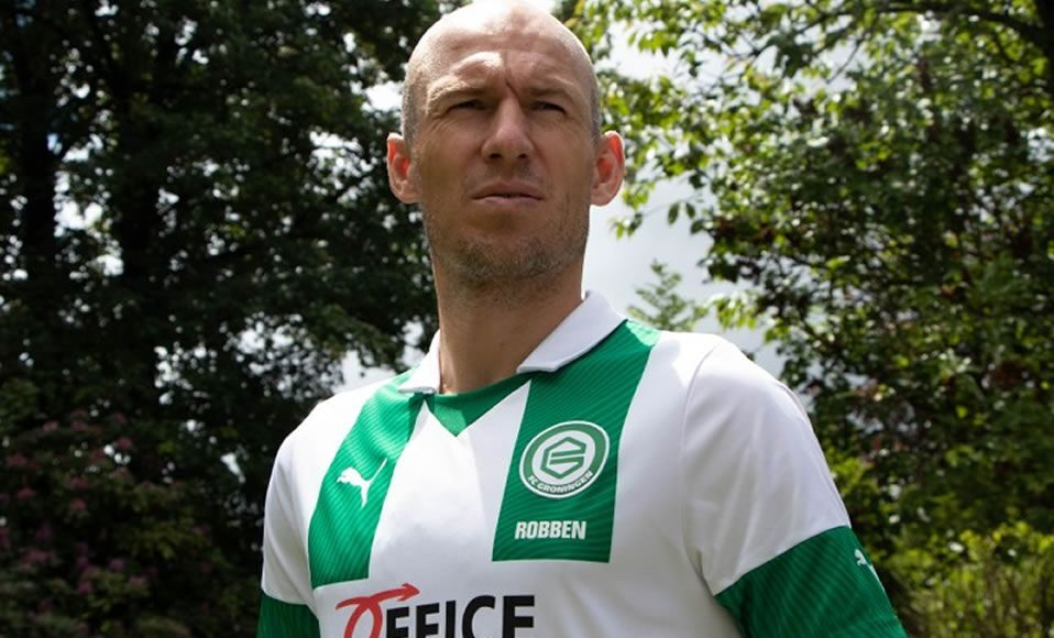 Arjen Robben sale del retiro para jugar con el FC Groningen de la Eredivisie