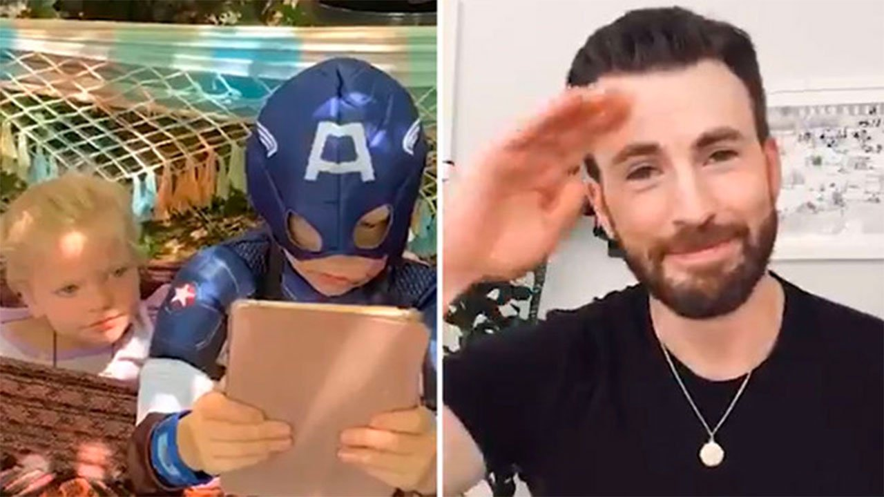 """Chris Evans regala escudo de """"Capitán América"""" a niño que salvó a ..."""